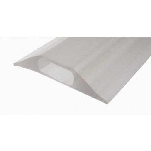 Osmor 02CRYST0030 | Clear Floor Cable Cover Split Base Hole Size:30x10mm - 3m length Overall Size 80mm x 18mm  (3m lgth)