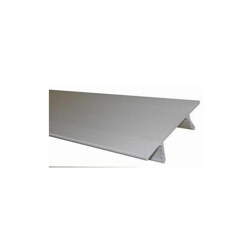 White Plastic Support Channel Cover Strip (3m lgth)
