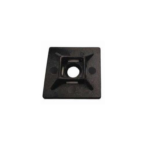 CMW Ltd  | Black     Cable Tie Adhesive Bases (Bag / 100)