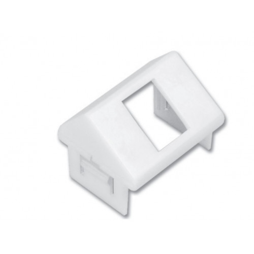 Siemon CT 1 Port MAX Angled Adapter Plate White (Each)