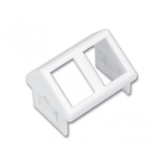 Siemon CT 2 Port MAX Angled Adapter Plate White (Each)