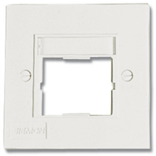 Siemon CT 1 Port Faceplate S/G White (Each)