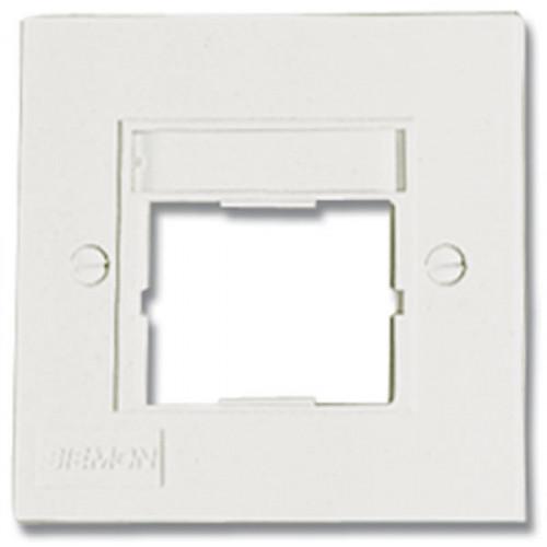 CMW Ltd CTE2-FP-02 | Siemon CT 1 Port Faceplate S/G White