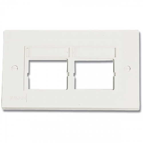 Siemon CT 2 Port Faceplate D/G White
