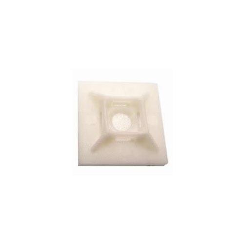 CMW Ltd  | Natural   Cable Tie Adhesive Bases (Bag / 100)