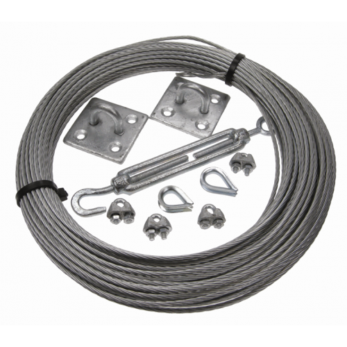 CMW Ltd Catenary wire Cable fixing kit | 3mm Catenary Wire Kit 50m Coil