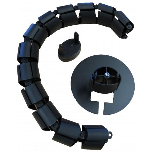 CMW Ltd Desk Cable Management | Black Desk Cable Spine 780mm