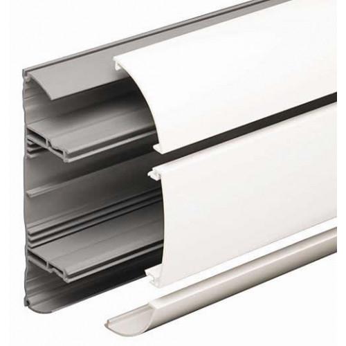 Marshall-Tufflex  DD1WH | Marshall Tufflex PVC White Odyssey 3 Compartment Dado Trunking (3m lgth)