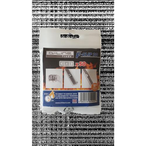 CMW Ltd SAFEDFCLIP30/100 | Safe-D 56mm x 20mm F-Clip 30