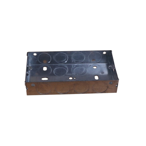 CMW Ltd  | 25mm Deep Double Gang Metal Box