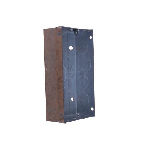 CMW Ltd  | Double Gang 35mm Deep Galvanised Steel Knockout Box