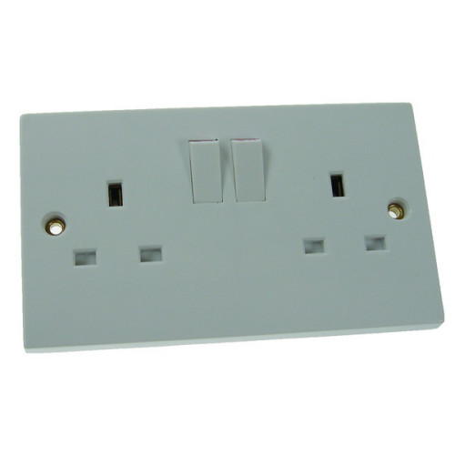 Double Gang Switched Socket