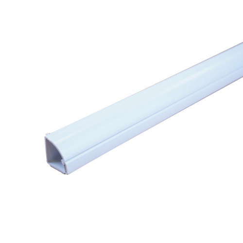 D-Line R3D22QSW Self Adhesive 1/4 Round 22mm x 22mm 3m Plastic Trunking Length White