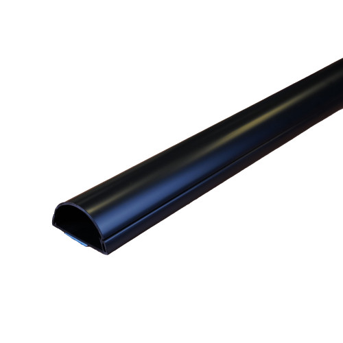 D-Line R3D5025W Self Adhesive 1/2 Round Maxi 50mm x 25mm 3m Plastic Trunking Length Black