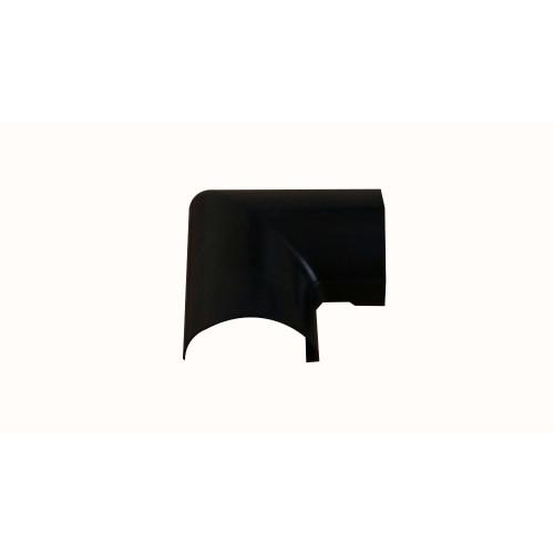 D-Line FLFB5025B   D-Line Black Clip Over Flat Bend 50mm x 25mm
