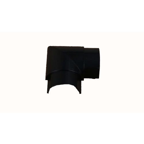 D-Line FB3015B | D-Line Black Smooth Fit Flat Bend 50mm x 25mm