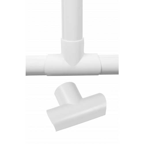 D-Line White Clip Over Equal Tee 30mm x 15mm (Each)