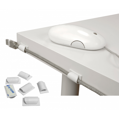 White Cable Tidy Clips (Each)