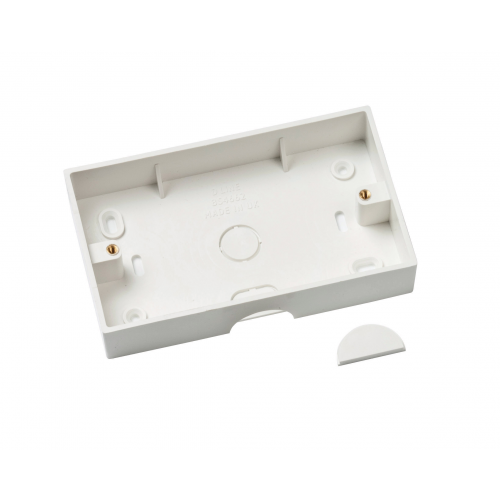 D-Line White 35mm Double Gang Surface Box (Each)