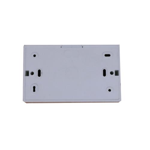 CMW Ltd TSB35W   D-Line White 35mm Double Gang Surface Box
