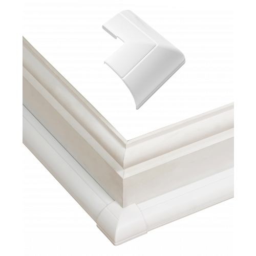 D-Line FLEB22QSW | D-Line White Clip Over External Bend 22mm x 22mm
