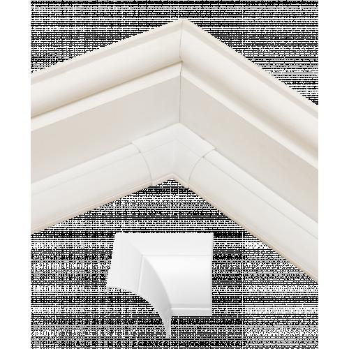 D-Line FLIB22QSW | D-Line White Clip Over Flat / Internal Bend 22mm x 22mm