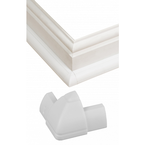 D-Line White Smooth Fit External Bend 22mm x 22mm (Each)