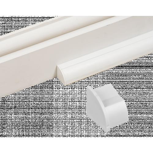 D-Line EC22QSW/L | D-Line White Smooth Fit Left Hand End Cap 22mm x 22mm