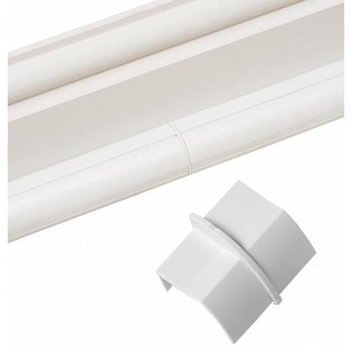 D-Line CP22QSW | D-Line White Smooth Fit Plain Coupler 22mm x 22mm