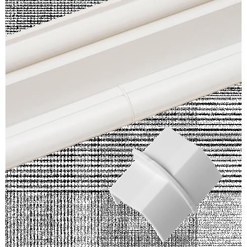 D-Line CP22QSW   D-Line White Smooth Fit Plain Coupler 22mm x 22mm