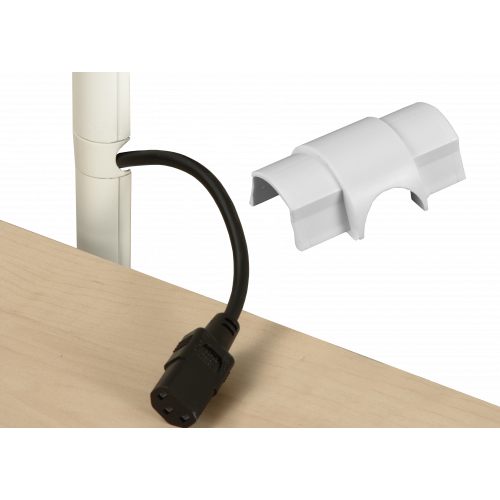 D-Line CO3015W | D-Line White Smooth Fit Cable Outlet 30mm x 15mm