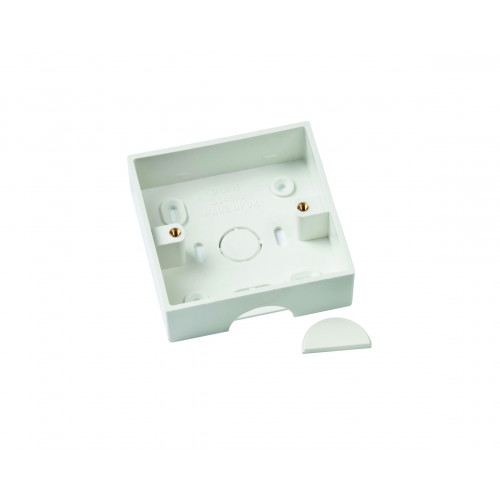 D-Line White 35mm Single Gang Surface Box (Each)