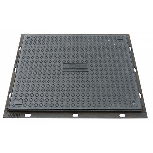 B125 450x450mm Composite Cover & Galvanised Lockable Frame.