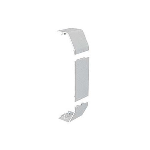 Marshall-Tufflex  ECP1MWH | Marshall Tufflex PVC - U White Sterling Profile 1 Chamfered Dado Trunking Joint Cover - Coupler