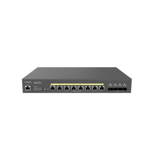 EnGenius ECS2512FP | EnGenius ECS2512FP Cloud Managed 2.5G Base-T 240W PoE++ 8 Port Network Switch