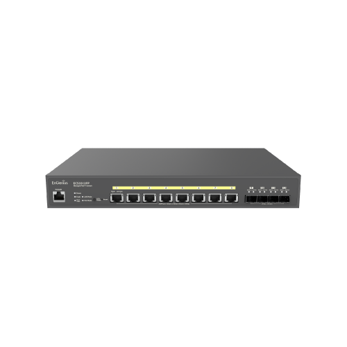 EnGenius ECS5512FP | EnGenius ECS5512FP Cloud Managed 8 Port 10G Base-T 420W PoE++ Network Switch