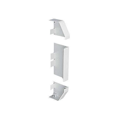 Marshall-Tufflex  EECP1MWH | Marshall Tufflex PVC - U White Sterling Profile 1 Chamfered Dado Trunking End Cap