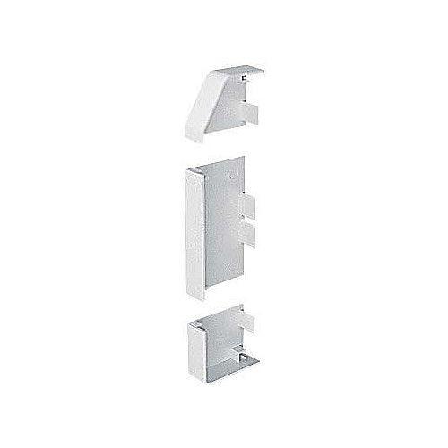 Marshall Tufflex PVC - U White Sterling Profile 2 3 Compartment Skirting Dado End Cap Left Hand (Each)