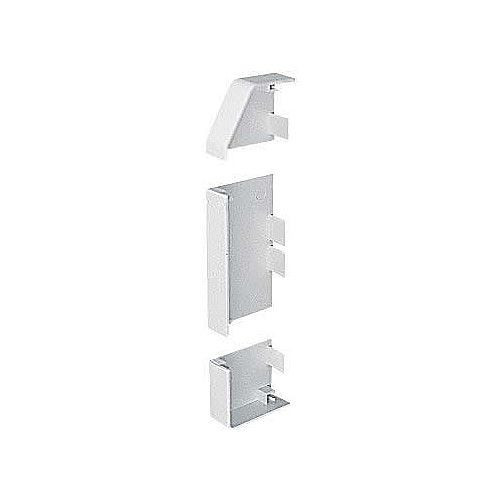Marshall Tufflex PVC - U White Sterling Profile 2 3 Compartment Skirting Dado End Cap Left Hand (Each)