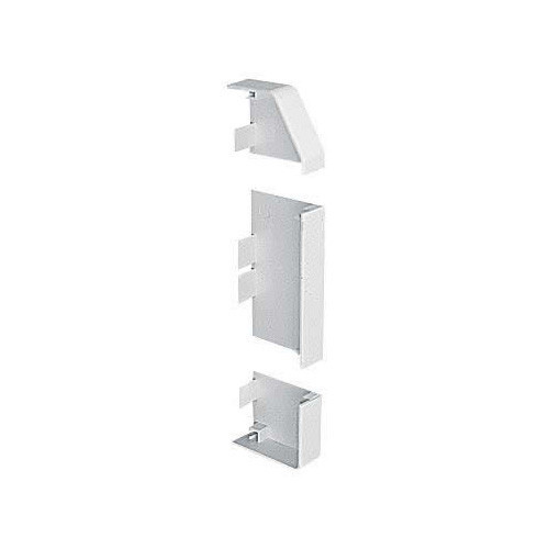 Marshall Tufflex PVC - U White Sterling Profile 2 3 Compartment Skirting Dado End Cap Right Hand (Each)