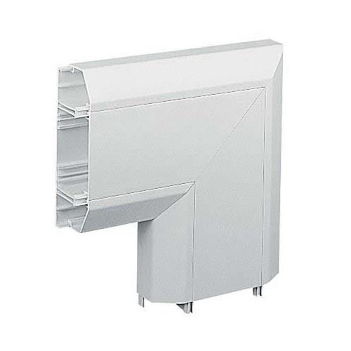 Marshall-Tufflex  EFA1MBWH | Marshall Tufflex PVC - U White Sterling Profile 1 Chamfered Dado Trunking Flat Angle