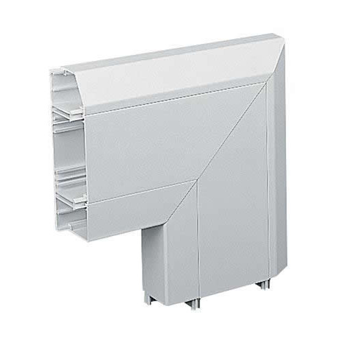 Marshall Tufflex PVC - U White Sterling Profile 2 3 Compartment Skirting Dado Flat Angle-down (Each)