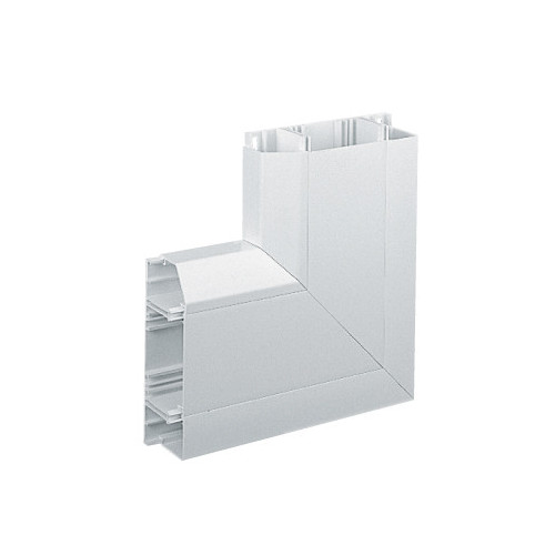 Marshall Tufflex PVC - U White Sterling Profile 2 3 Compartment Skirting Dado Flat Angle-up (Each)
