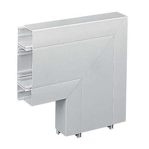 Marshall-Tufflex  EFA3WH | Marshall Tufflex PVC - U White Sterling Profile 3 3 Compartment Square Dado Flat Angle