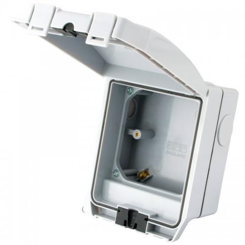 1 Gang IP66 Weatherporoof Enclosure with Solid Grey Lid