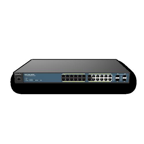EnGenius EWS1200-28TFP   EnGenius EWS1200-28TFP 24-Port Managed Gigabit 410W PoE+ Network Switch
