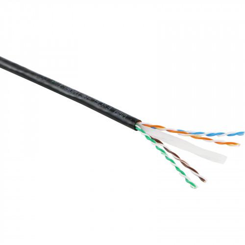 CMW Ltd  | Excel Cat6 UTP Ext Grade PE Cable 305M Black Fca