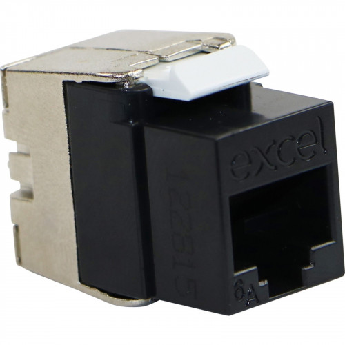 CMW Ltd  | Excel Cat6A UTP Keystone Toolless Module Low Profile Black