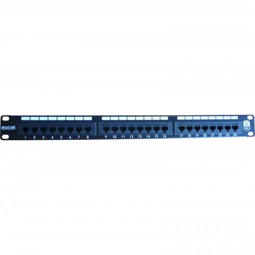 CMW Ltd, Structured Cabling Copper Patchcord | Excel 1U 24 Port Cat 6 Patch Panel