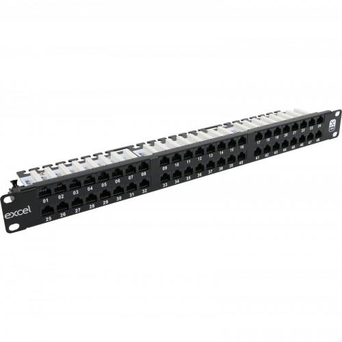 CMW Ltd, Structured Cabling Copper Patch Panel | Excel 1U 48 Port Cat 5e Patch Panel R/A
